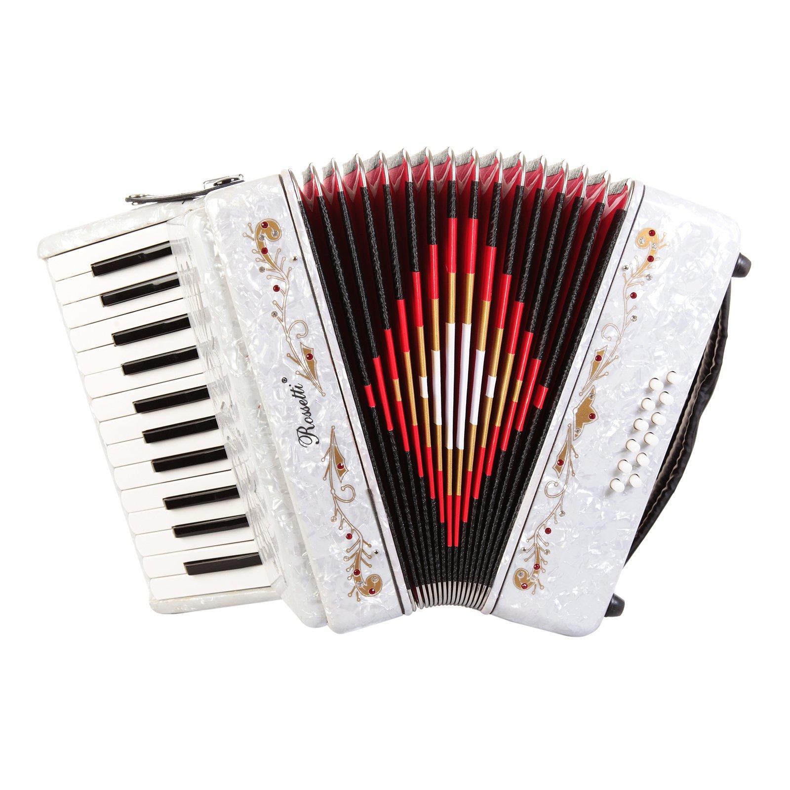 Rossetti Beginner Piano Accordion White