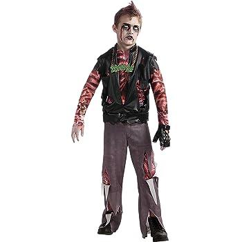 Boys Rock Zombie Costume Boys Halloween Punk Rocker Fancy Dress Kids Outfit