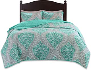 gray and turquoise comforter sets