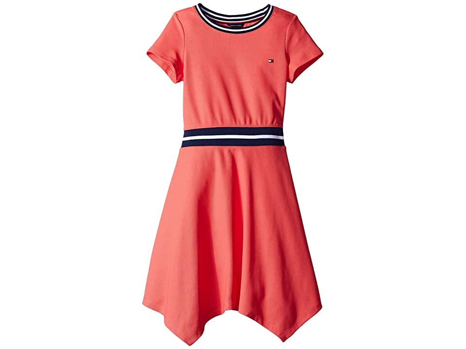 Tommy Hilfiger Kids Solid Pique Dress (Big Kids) (Paradise Pink) Girl