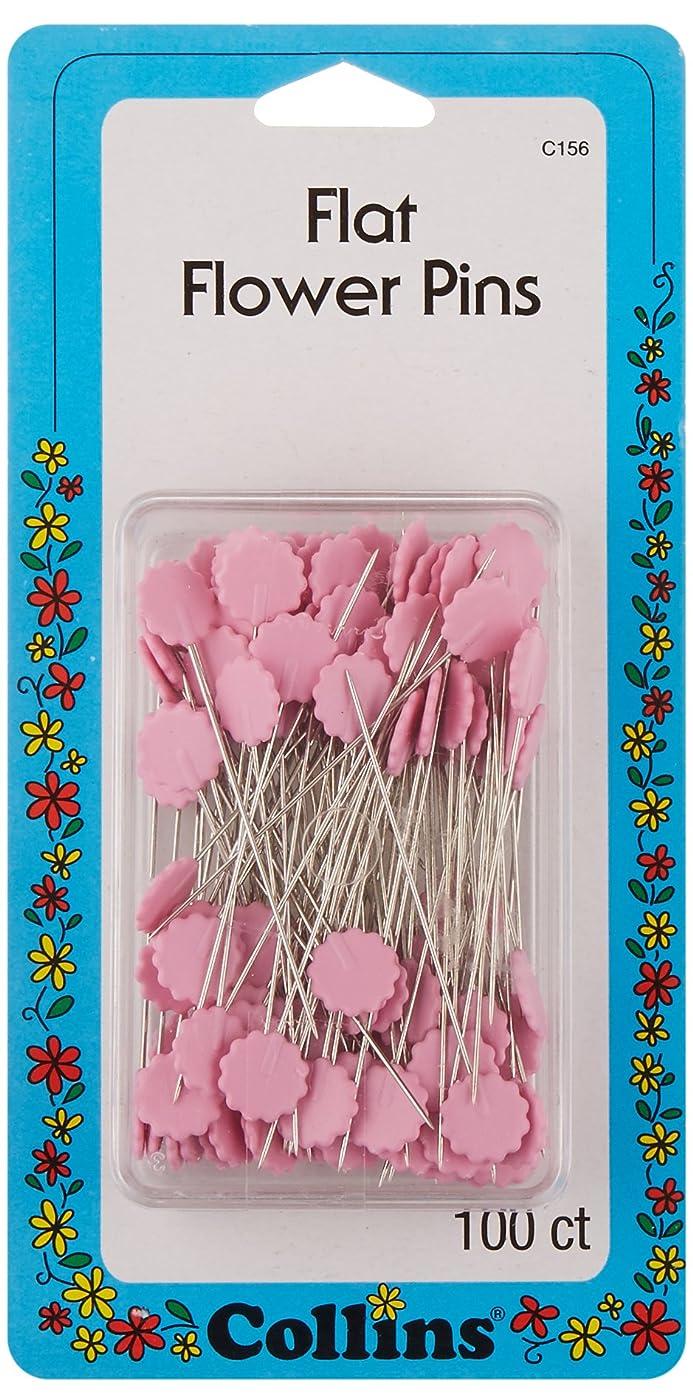 Collins COL156 100 Piece Pink Flat Flower Pins