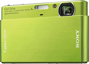 Sony Cybershot DSC-T77 10MP Digital Camera with 4x Optical Zoom with Super Steady Shot Image Stabilization (Green)
