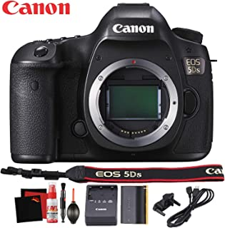 Canon EOS 5DS DSLR Camera (Body Only) International Version - 50 Megapixel - HD Video - Battery - Canon Neck Strap - Starter Accessory Bundle