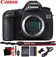 Canon EOS 5DS DSLR Camera International Version 50 Megapixel HD Video Battery Neck Strap Starter Accessory Bundle