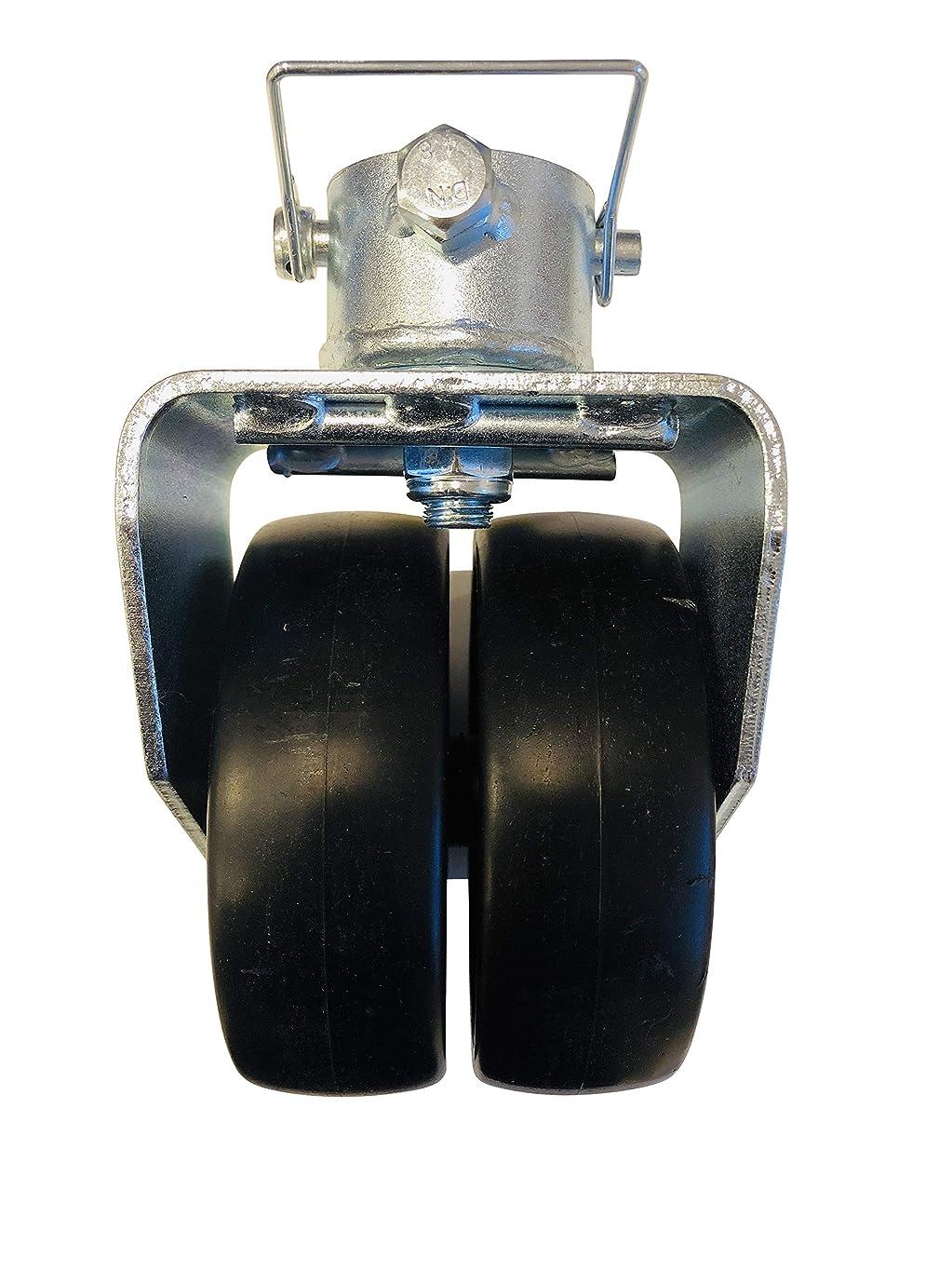 意志に反する没頭するケニアプロフェッショナル EZ トラベル コレクション 強化ダブルホイール トレーラー ジャック キャスター ピン付き (2000ポンド定格)