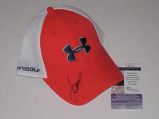 df49cbeed9dce Jordan Spieth signed White   Orange Under Armour Hat PGA Tour Golf Masters  JSA