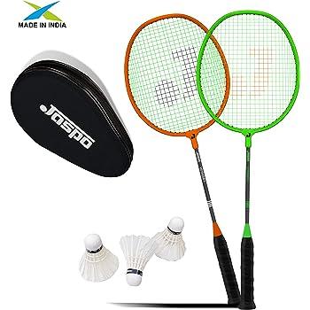 Jaspo Voyager Badminton Beginner Professional Practice Racket Set (2 Racket, 3 Feather Shuttle and Bag)
