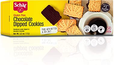 Schar Chocolate-Dipped Cookies, 5.3-Ounce Boxes (Pack of 4)