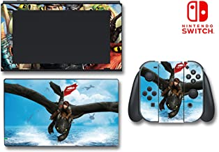 How to Train Your Dragon 2 Hiccup Astrid Video Game Vinyl Decal Skin Sticker Protector Cover for Nintendo Switch Console System