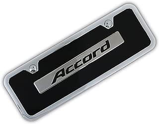 Au-Tomotive Gold, INC. Honda Accord Name Badge On Black Mini License Plate + Frame