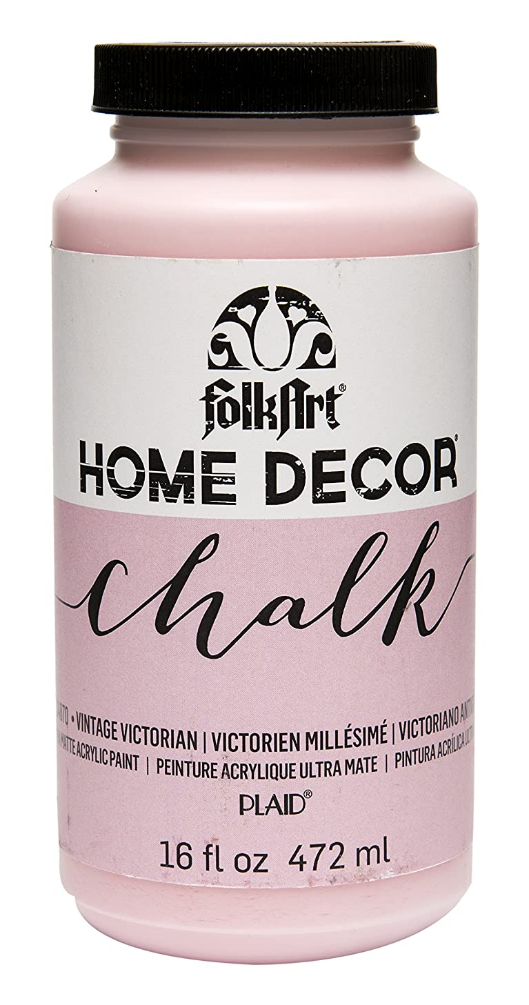 FolkArt 34870 Home Decor Chalk Furniture & Craft Paint in Assorted Colors, 16 ounce, Vintage Victorian