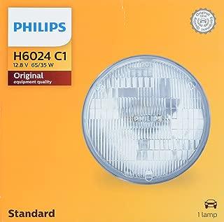 Philips H6024 Lámpara Delantera Halógena Estándar de Repuesto, paquete con 1 pieza
