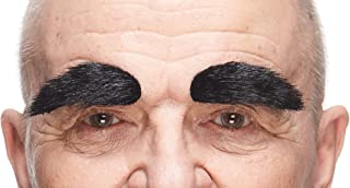 Mustaches Self Adhesive, Novelty, Fake Eyebrows False Facial Hair, Costume Accessory for Adults
