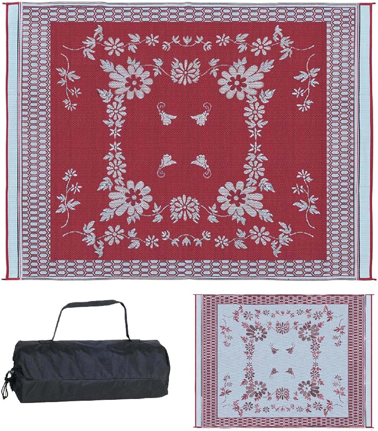 Ming's Mark FA5 9  X 12  Burgundy Floral Mat