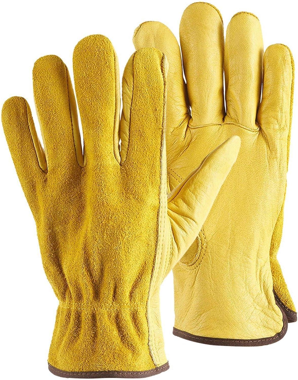 LONGHAIYUAN Leather Safety El Paso Mall Cheap sale Garden Worker Work Gloves Wear