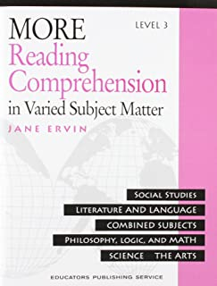 More Reading Comprehension: In Varied Subject Matter, Level 3