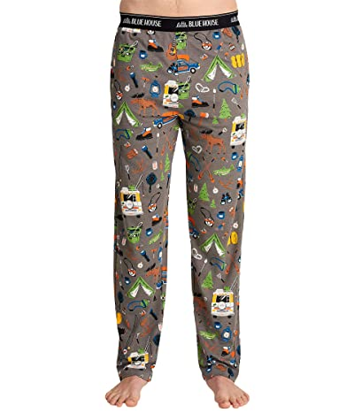 Little Blue House by Hatley Retro Camping Jersey Pajama Pants