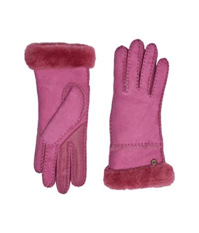 UGG Seamed Tech Water Resistant Sheepskin Gloves (Fuchsia) Extreme Cold Weather Gloves