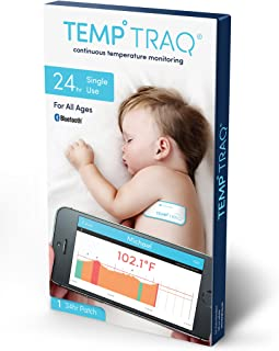TempTraq 24-Hour Intelligent Baby Fever Monitor with Wireless Alerts (iOS & Android) - FDA-Cleared Wearable Smart Thermometer Patch - Alerts Immediately When Fevers Spike