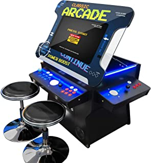 "Creative Arcades Full Size Commercial Grade Cocktail Arcade Machine | Trackball | Three-Sided | 1162 Classic Games | 4 Sanwa Joysticks | 2 Stools Included | 3 Year Warranty | 26"" Lifting Screen"