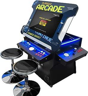 Creative Arcades Full Size Commercial Grade Cocktail Arcade Machine | Trackball | Three-Sided | 1162 Classic Games | 4 Sanwa Joysticks | 2 Stools | 3 Year Warranty | 26