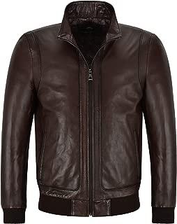 Men's New Racer Leather Jacket Semi Veg Tanned Brown Casual Italian Lambskin Tops A26