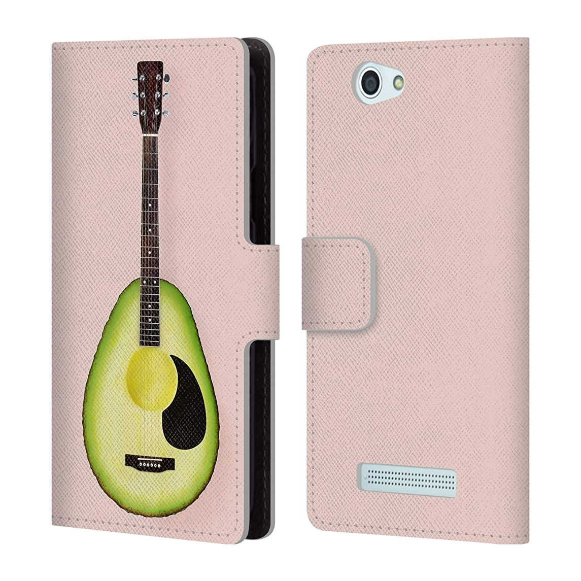 Official Paul Fuentes Avocado Guitar Pastels Leather Book Wallet Case Cover for Wileyfox Spark/Plus