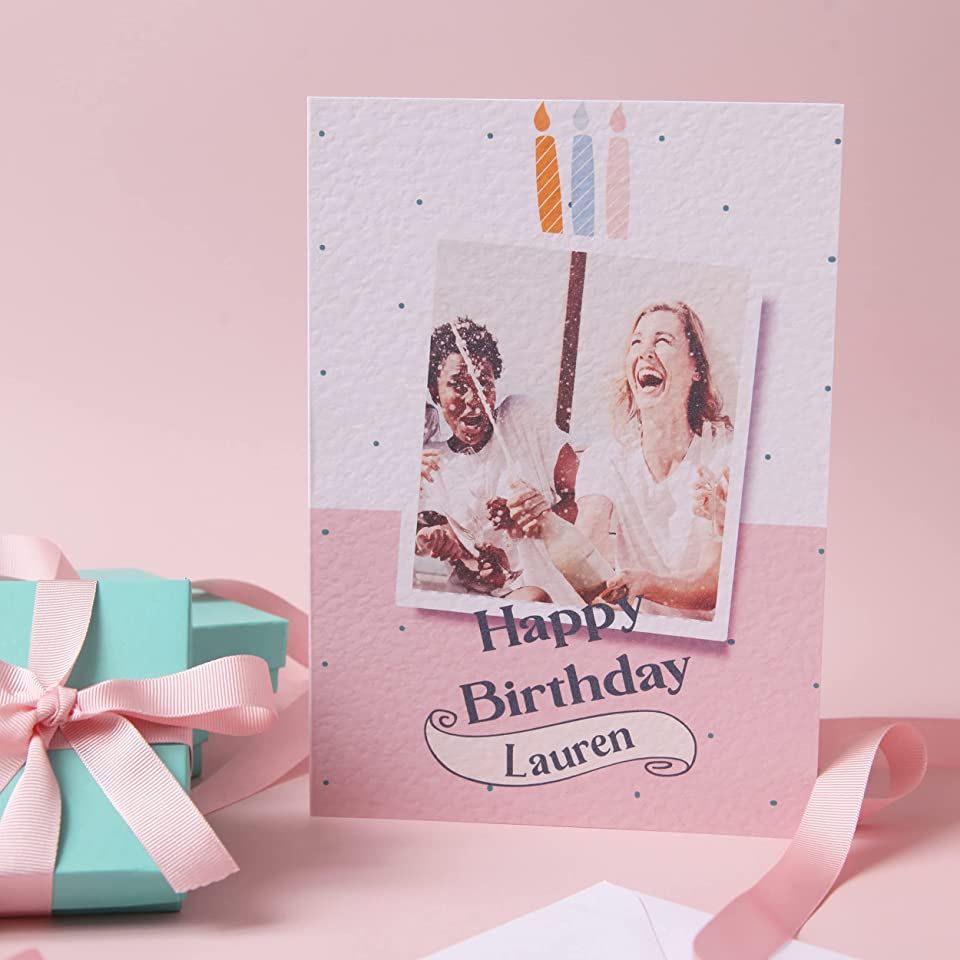Personalised Birthday Card with Photo Print