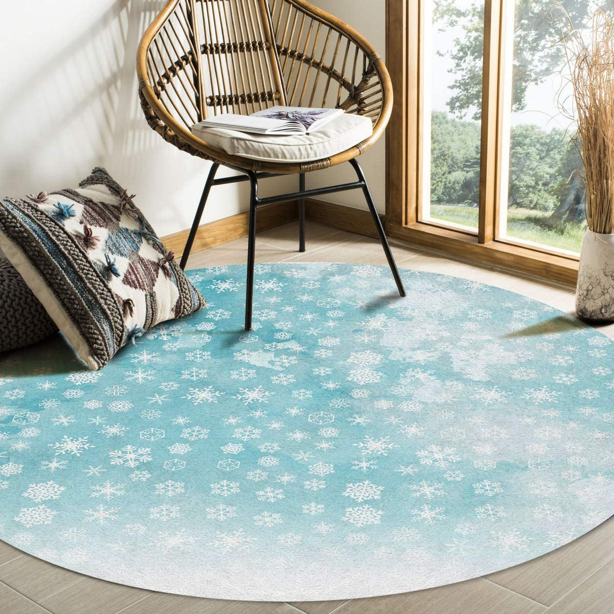 Super sale Modern Round Area Safety and trust Rug 5 for Bedroom Low-Profi Feet Non-Shedding