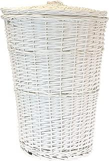Redmon Round Willow Hamper, White