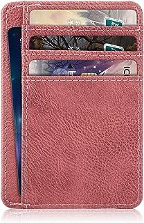 Dteck Lightweight Slim Wallet Minimalist [RFID Blocking] Premium Leather Credit Card Holder Front Pocket Wallets with ID C...