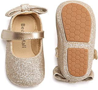 Felix & Flora Soft Sole Leather Baby Shoes - Infant Baby Walking Shoes Moccasinss Rubber Sole Crib Shoes