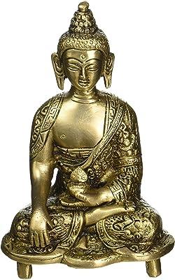 Home Sajja Brass Table Statue Lord Buddha Sculpture