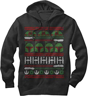 Star Wars Men's Boba Fett Ugly Christmas Sweater Hoodie