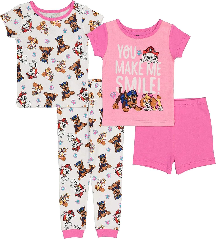Nickelodeon Girls' Paw Patrol Snug Fit Cotton Pajamas