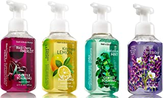 Bath & Body Works, Gentle Foaming Hand Soap, KItchen Favorites Collection, Black Cherry Merlot, Kitchen Lemon, Eucalyptus Mint, Fresh Lavender (4-Pack)