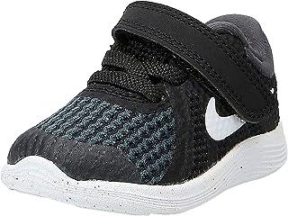 Nike Revolution 4 (TD) Baby Sneakers, Black/White-Anthracite, 2 US