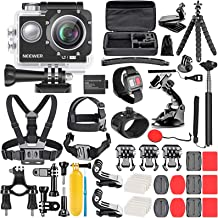Neewer G1 فوق العاده HD 4K کیت دوربین عمل شامل 12 مگاپیکسل، 98 فوت دوربین ضد آب زیر آب 170 درجه گسترده ای زاویه WiFi ورزشی سناتور با تکنولوژی بالا با 50 در 1 عمل دوربین لوازم جانبی لوازم جانبی