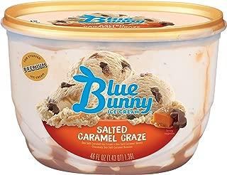 Blue Bunny Frozen Ice Cream, Salted Caramel Craze, 46 Ounces