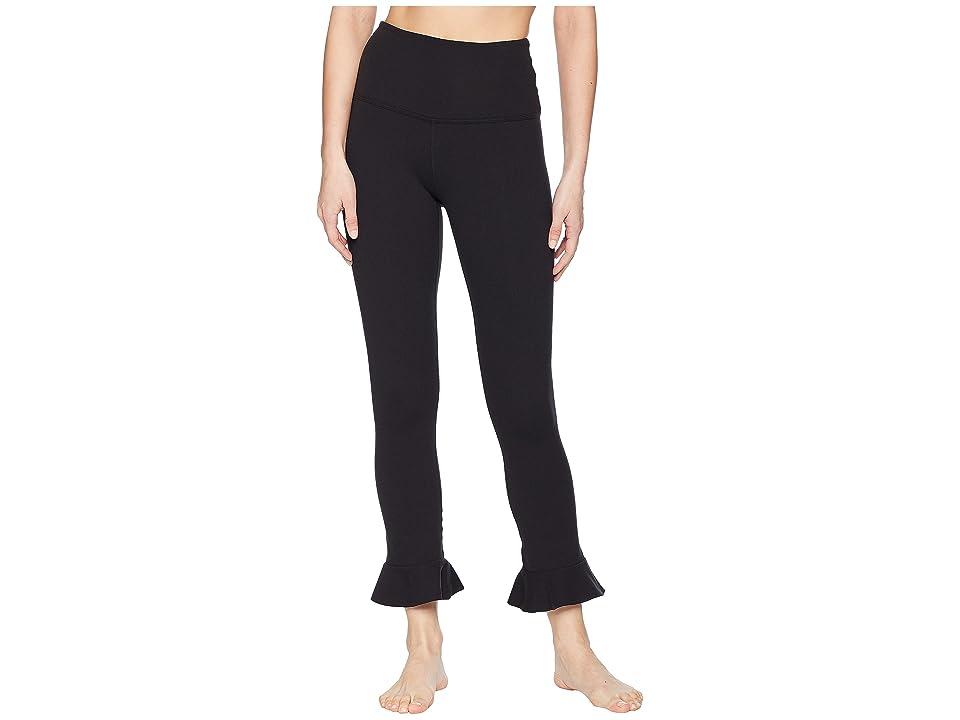 Beyond Yoga Frill Seeker High-Waist Midi Leggings (Jet Black) Women