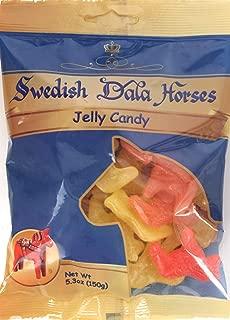 Dalecarlian Swedish Dala Jelly Horses Gummy Candy 5.3-ounce (150g)