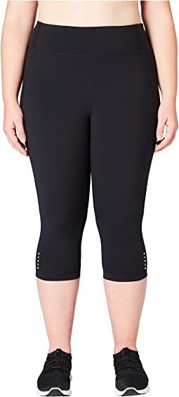 Onstride Plus Size Medium Waist Run Capri Leggings
