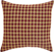 VHC Brands Classic Country Primitive Pillows & Throws-Check Red Fabric 16