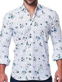 Mens Designer Dress Shirt - Stylish & Trendy - Fibonacci...