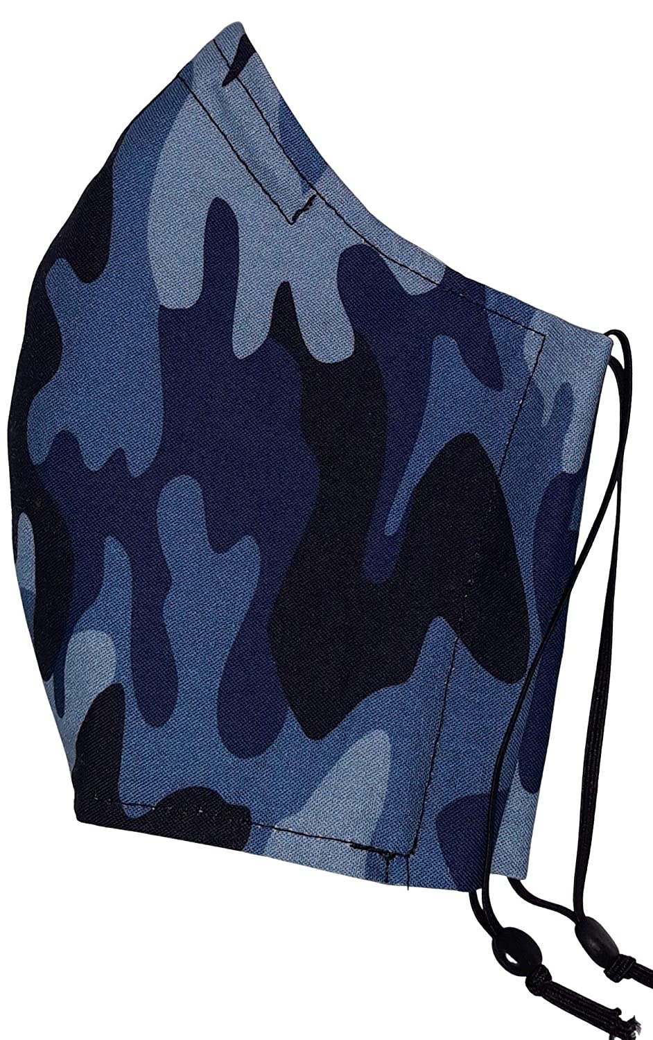 SMALL LADIES TEEN OFFer Size Face Mask- Fi Mask Camo- Cotton Blue Store