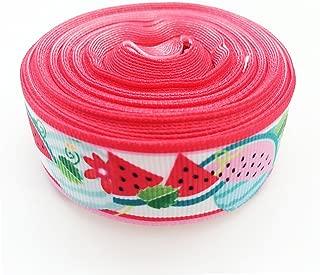 PEPPERLONELY 10 Yards Watermelon Print Grosgrain Ribbon, 22mm (7/8 Inch)
