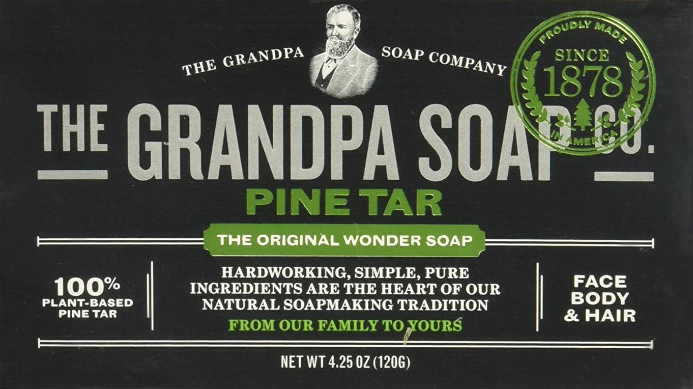 アクチュエータ脅かす層Grandpas Pine Tar Soap, Wonder, 4.25 Oz