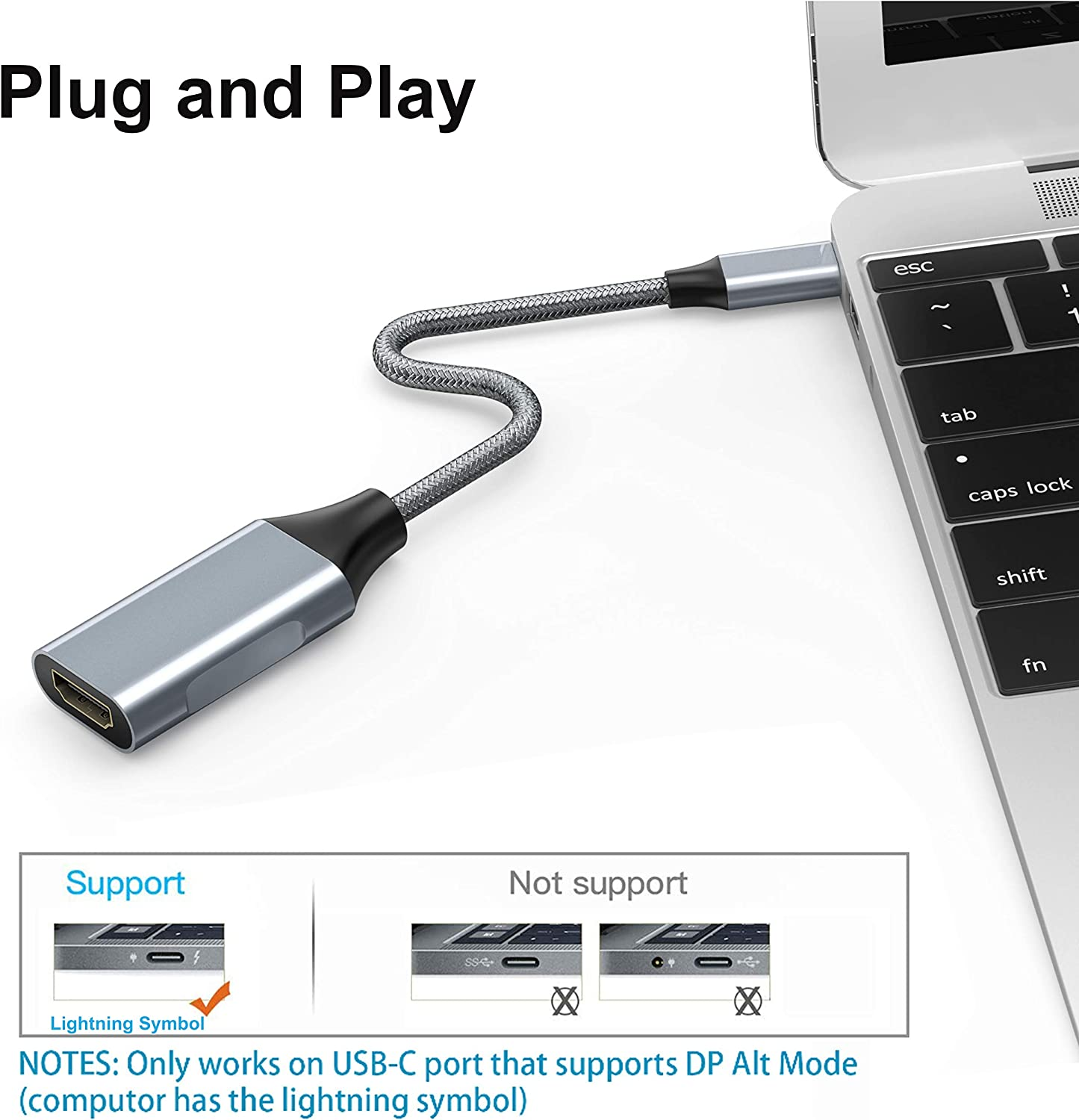 USB C to USB Adapter Vilcome 2 Pack Thunderbolt 3 to USB 3.0 Adapter,USB C Female to USB Male Adapter Compatible with MacBook Pro 2019,MacBook Air 2020,Dell XPS and Type C Devices