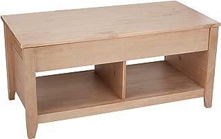AmazonBasics Lift-Top Storage Coffee Table, Natural