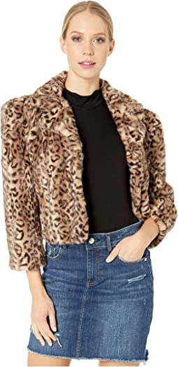 Faux Fur Leopard Shrug